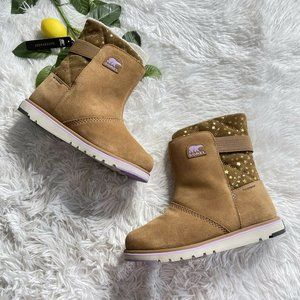 SOREL Rylee Boot Suede Sherpa Youth Girls Size 6